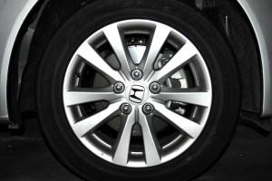 Metallic silver car with alloy wheels